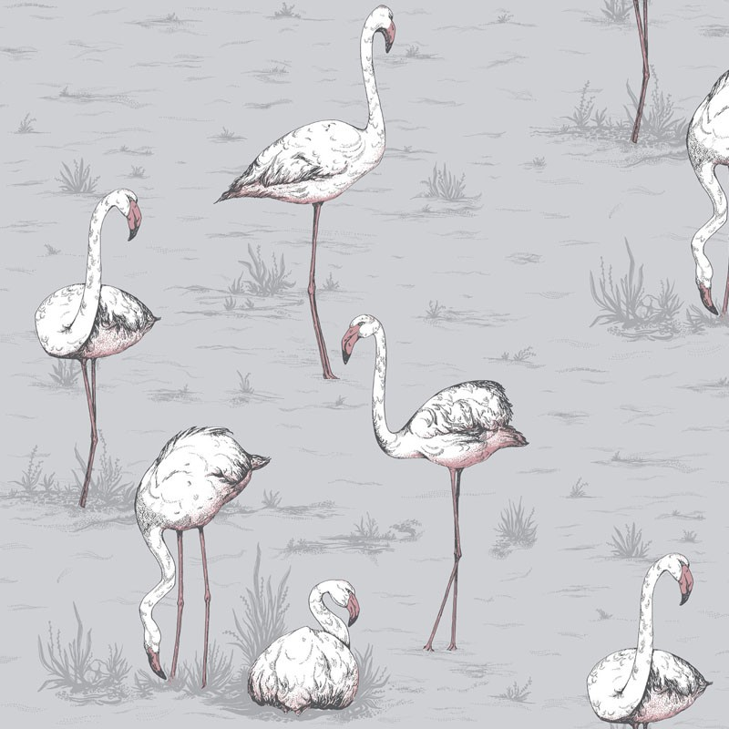 Papel pintado Cole & Son Icons Flamingos 112-11040
