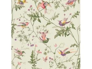 Papel pintado Cole & Son Marquee Stripes Hummingbirds 100-14070