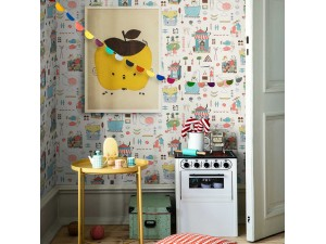 Papel pintado infantil Boras Tapeter Scandinavian Designers Mini 6242 A