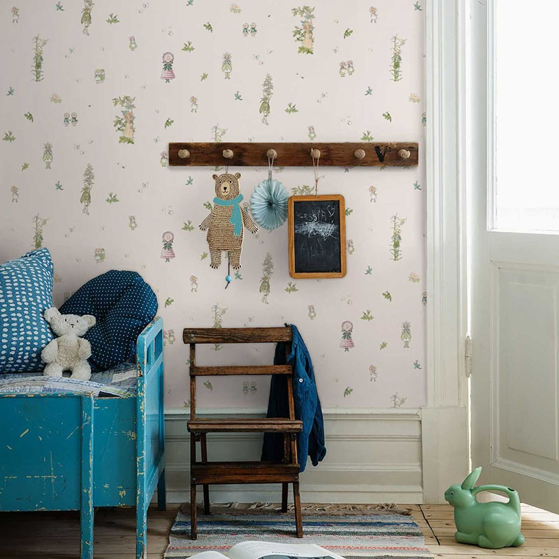 Papel pintado infantil Boras Tapeter Scandinavian Designers Mini 6235 A