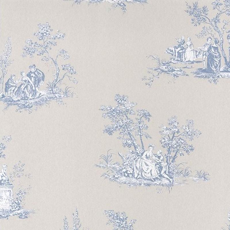 Papel pintado Casadeco Fontainebleau Scène Bucolique FONT81516206