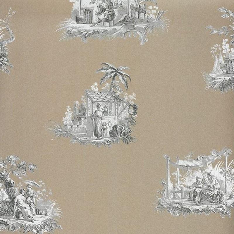 Papel pintado Casadeco Fontainebleau Chinoiserie Irisé FONT81542203