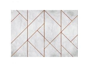 Mural decorativo Coordonné Montmartre Geometric Concrete Copper 7000073