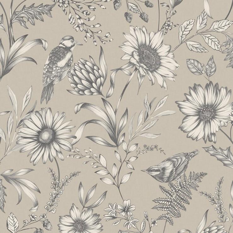 Papel pintado papel pintado floral bloom de arthouse - Papel pintado de los 70 ...