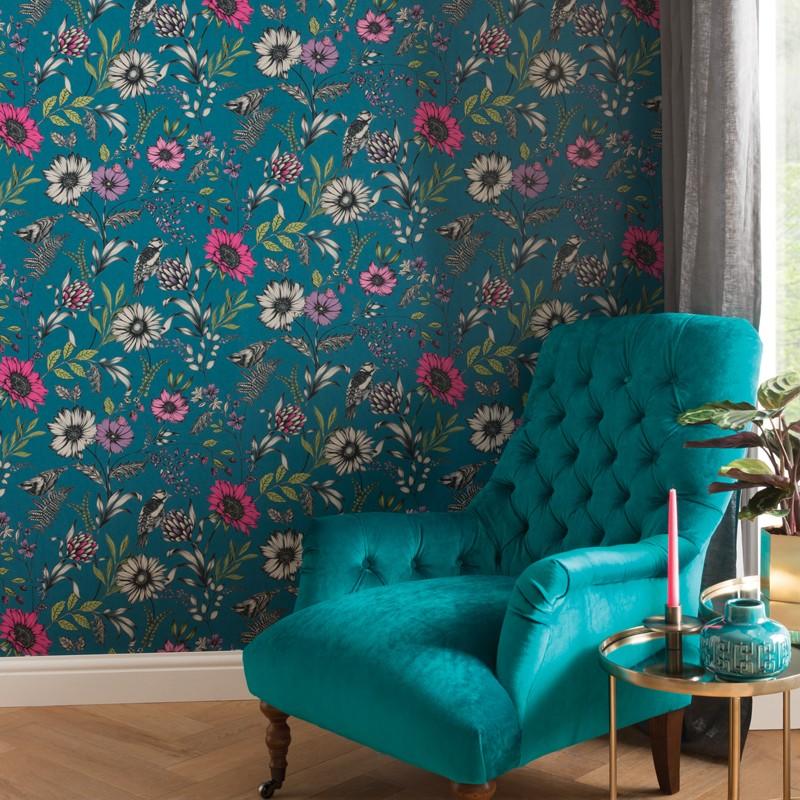 Papel pintado Arthouse Bloom Botanical Songbird 676001 A