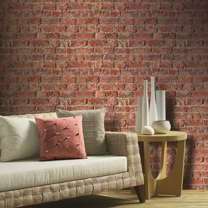 Papel pintado Arthouse Textures Naturale Farm Brick 698002 A