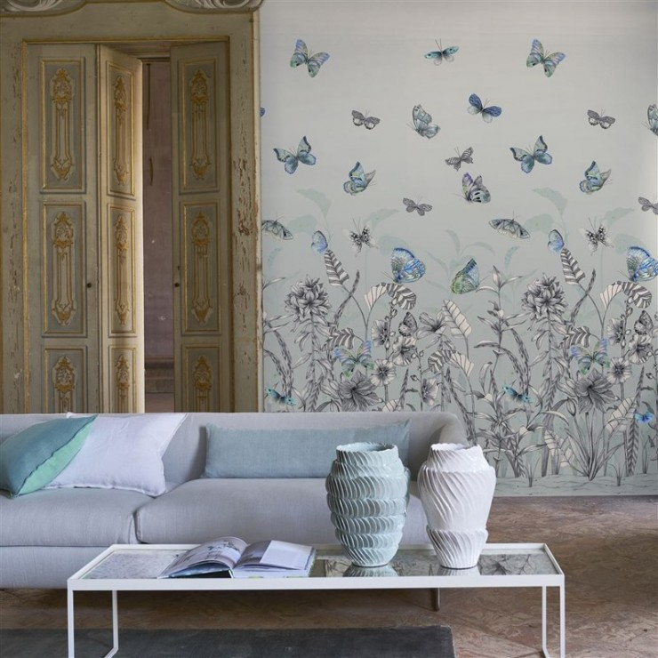 Papel pintado papel pared mandora de designers guild tienda online - Designers guild telas ...