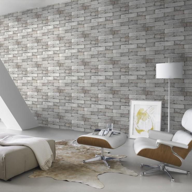 Papel pintado loft 2020 de decoas papel pintado ladrillos - Rollos de papel pintado ...