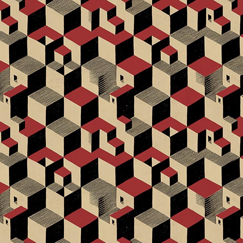 Papel pintado Jannelli Volpi M. C. Escher Cube 23150 A