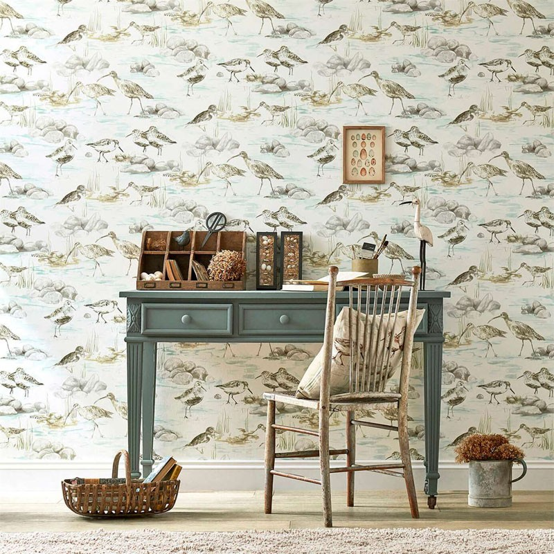 Papel pintado Sanderson Embleton Bay Estuary Birds 216494 A