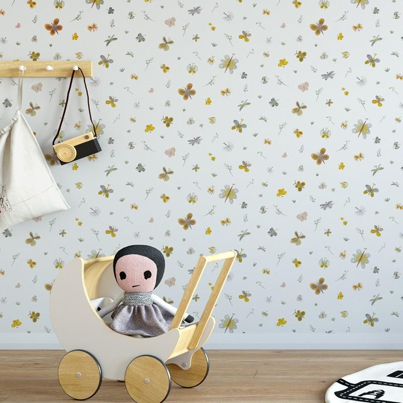 Papel pintado infantil Ventura Paula Alenda Pint Mariposas 35070 A