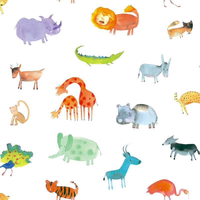 Papel pintado infantil Ventura Paula Alenda Pint Safari 35100