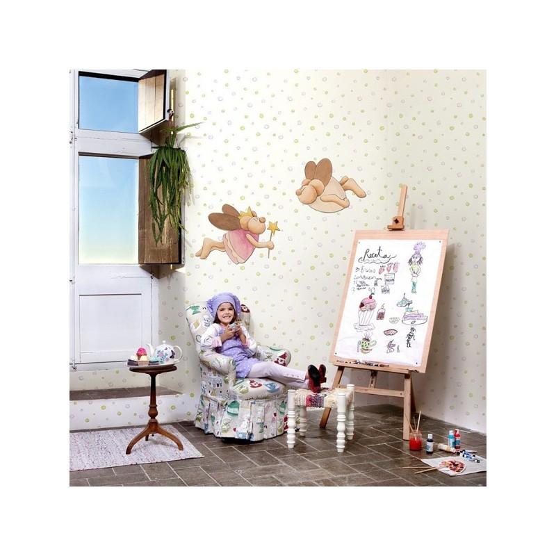 Papel pintado infantil pilar burguet coordonne kids para - Papel pintado infantil nino ...