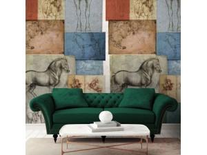 Mural decorativo Janelli & Volpi Leonardo Studio Equestri 23092 A