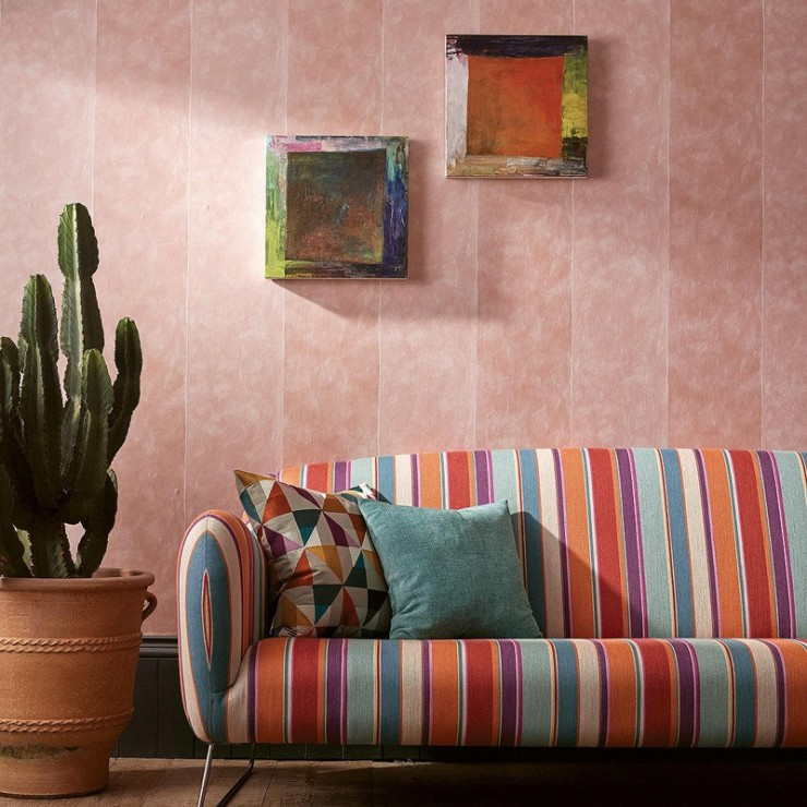 Papel pintado Osborne & Little Manarola Stripe W7214-01 A