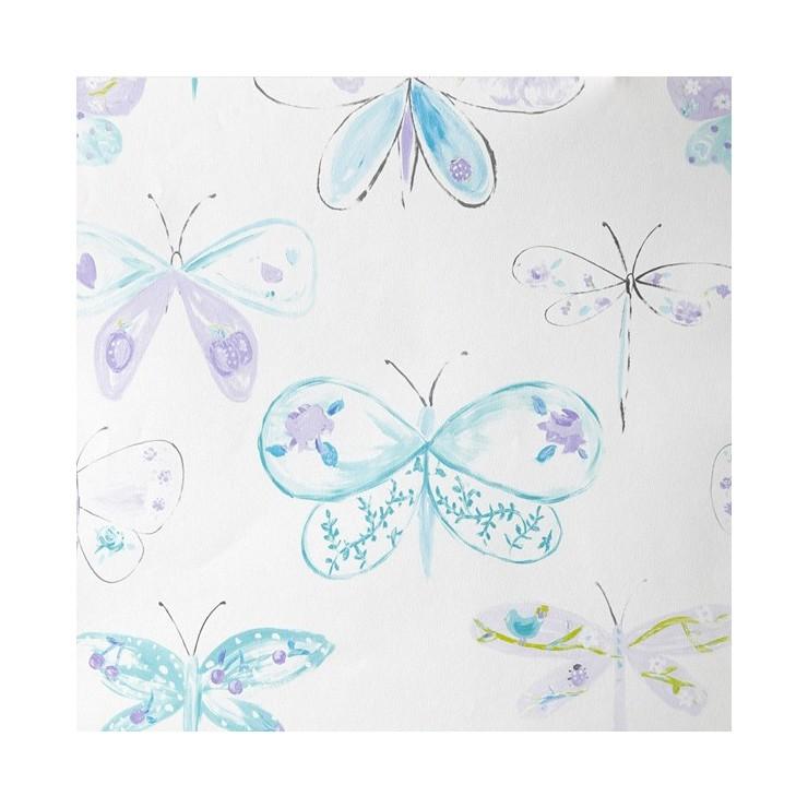Papel pintado oh la la caselio infantil mariposas y - Papel pintado mariposas ...