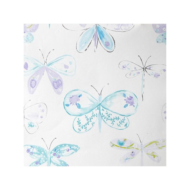 Papel pintado oh la la caselio infantil mariposas y - Papel pintado anos 60 ...