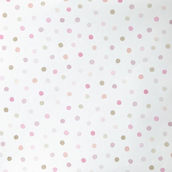 papel pintado oh la la caselio infantil en lunares multicolor barato - Papel Pintado Lunares