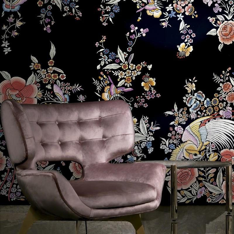 Mural decorativo Roberto Cavalli nº 6 Ricamo Fiorito RC17204 A