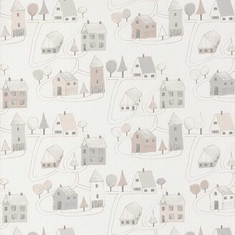 Papel pintado infantil Casadeco Happy Dreams Small Village HPDM82841329