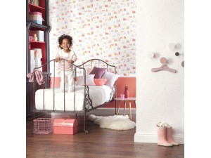 Papel pintado infantil Casadeco Happy Dreams Small Village HPDM82841230 A
