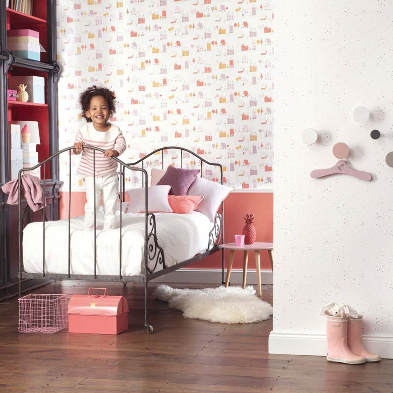 Papel pintado infantil Casadeco Happy Dreams Small Village HPDM82841230 A