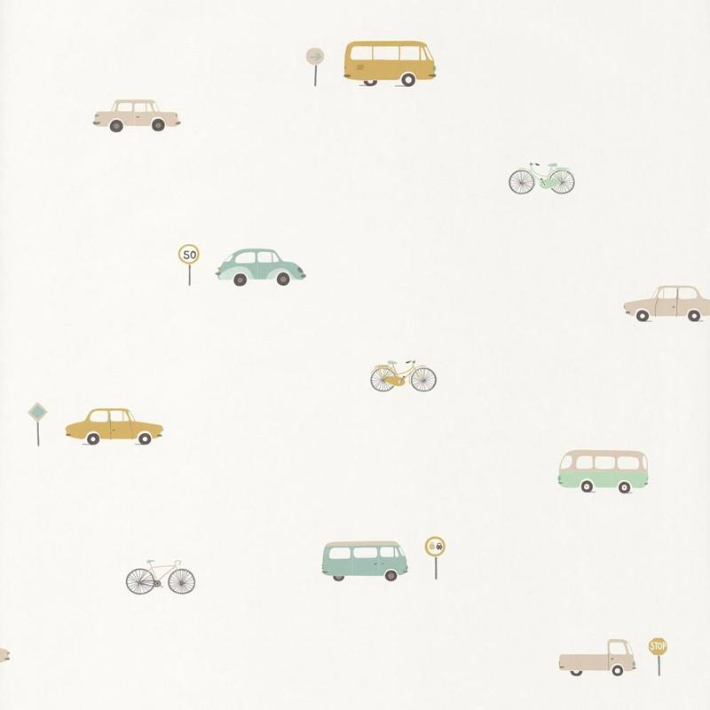 Papel pintado infantil Casadeco Happy Dreams Vintage Car HPDM82777317