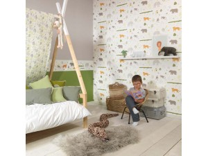 Papel pintado infantil Casadeco Happy Dreams Savanna HPDM82727304 A