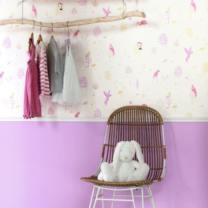 Papel pintado infantil Casadeco Happy Dreams Tropical HPDM82925203 a