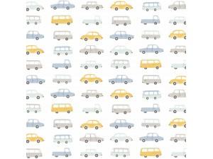 Tela infantil Casadeco Happy Dreams Allover Vintage Cars HPDM83246315