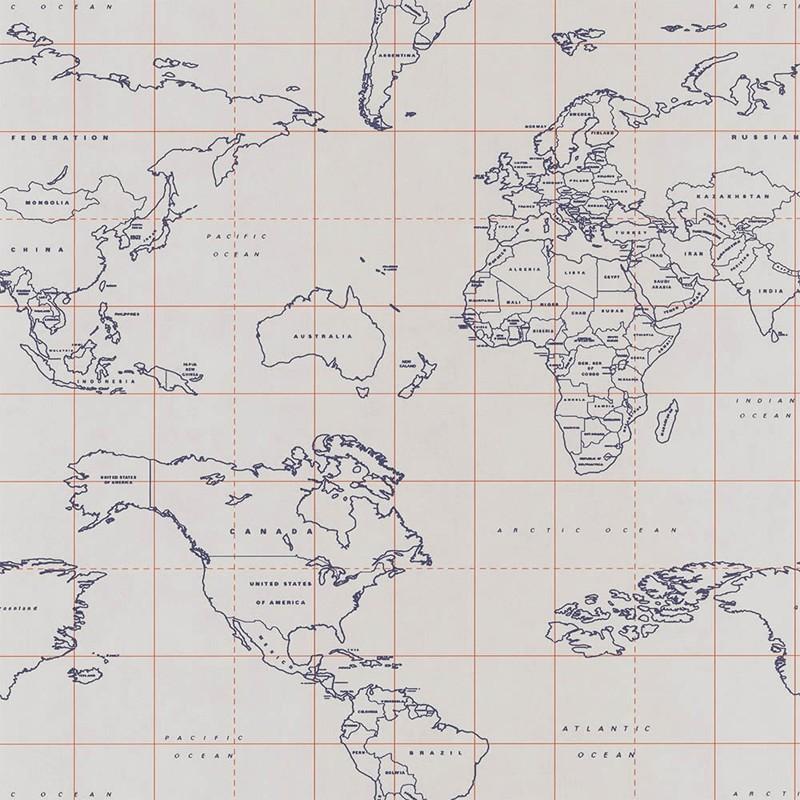 Papel pintado Caselio Tonic Map World TONI69473328