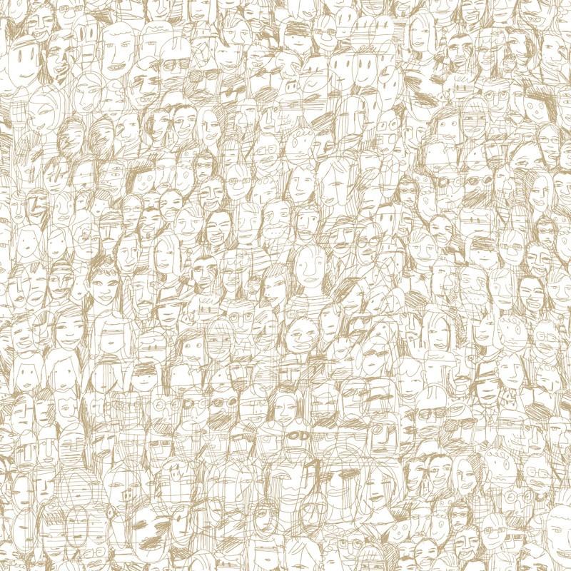 Papel pintado Tres Tintas Nueve Selvas de Mariscal Mil Caras 1995-8