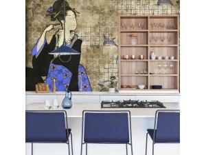 Mural Coordonné 40 th Anniversary Hiroshi Tsunoda Geisha Graffiti 8000037-N