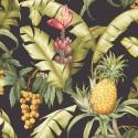 Maui Maui Pineapple Floral TP80000 Wallquest Papel pintado