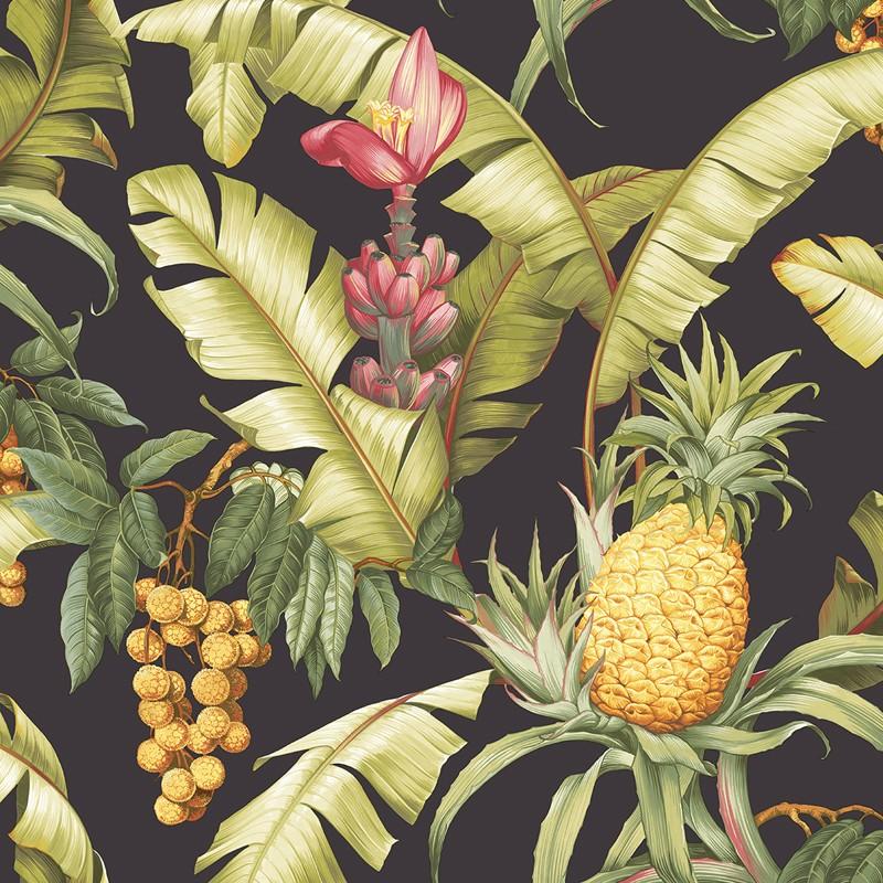 Papel pintado Wallquest Maui Maui Pineapple Floral TP80000