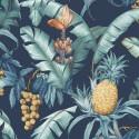 Maui Maui Pineapple Floral TP80002 Wallquest Papel pintado