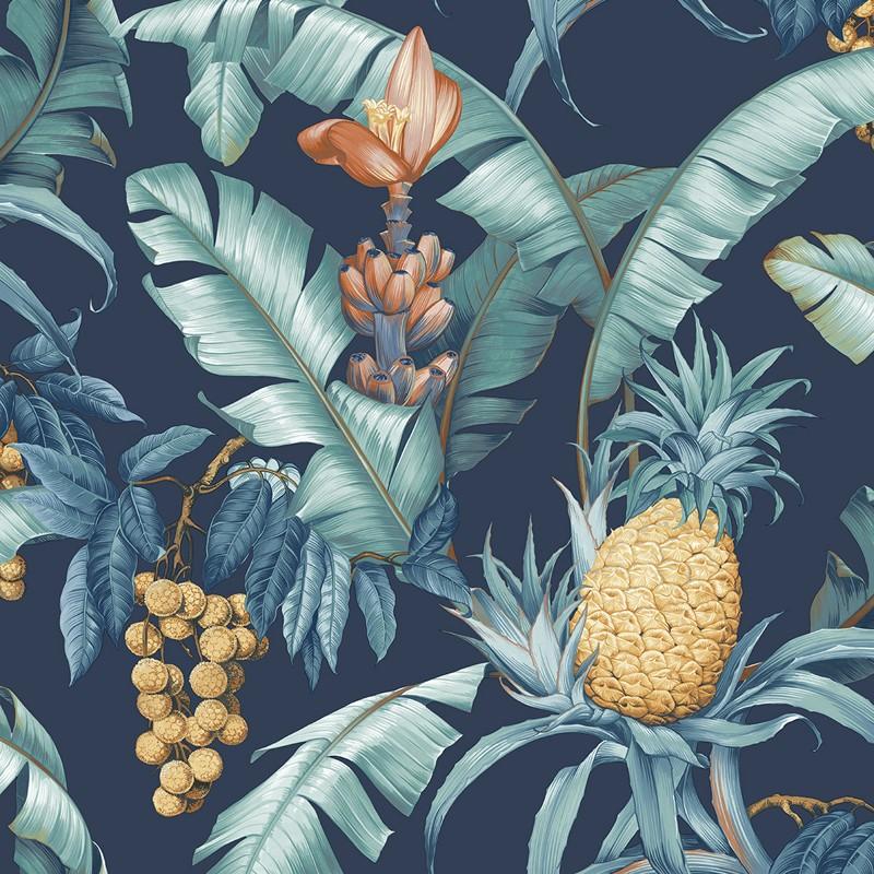 Papel pintado Wallquest Maui Maui Pineapple Floral TP80002
