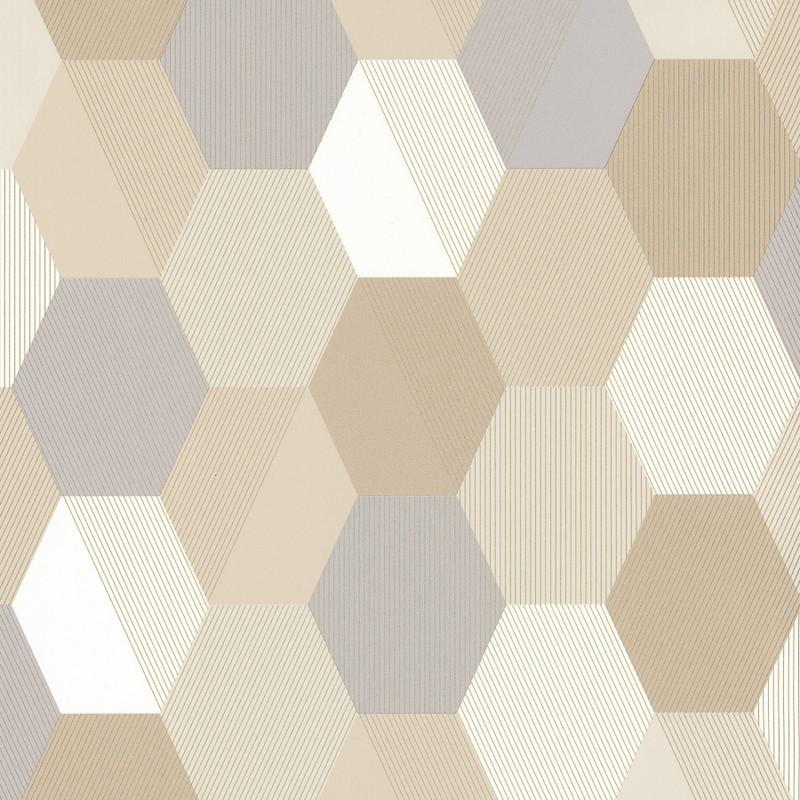 Papel pintado Caselio Spaces Hexagon SPA100101019
