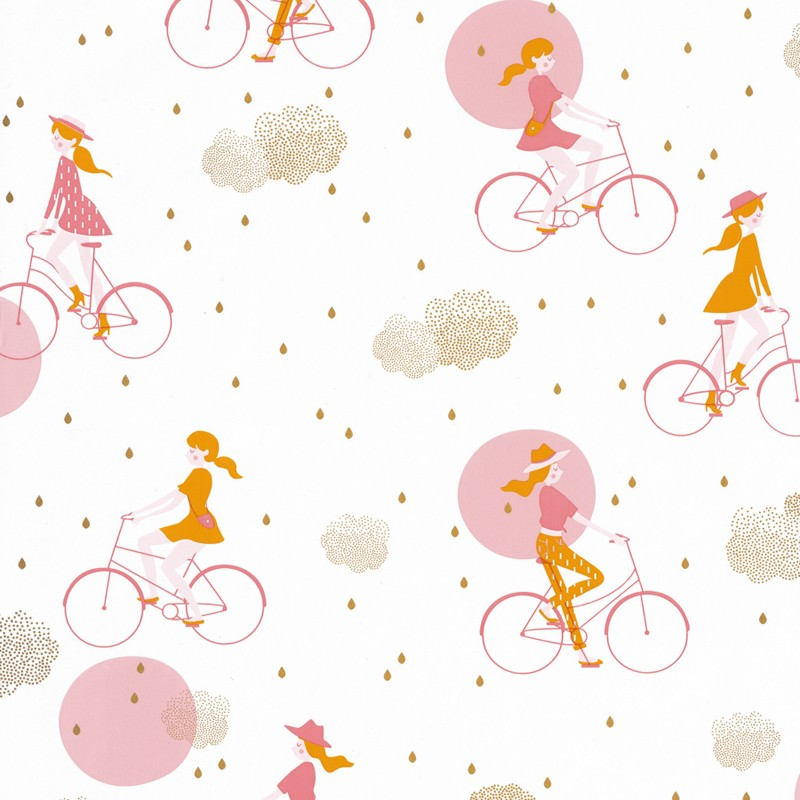 Papel pintado infantil Caselio Girl Power Lucy in the Sky GPR100844928