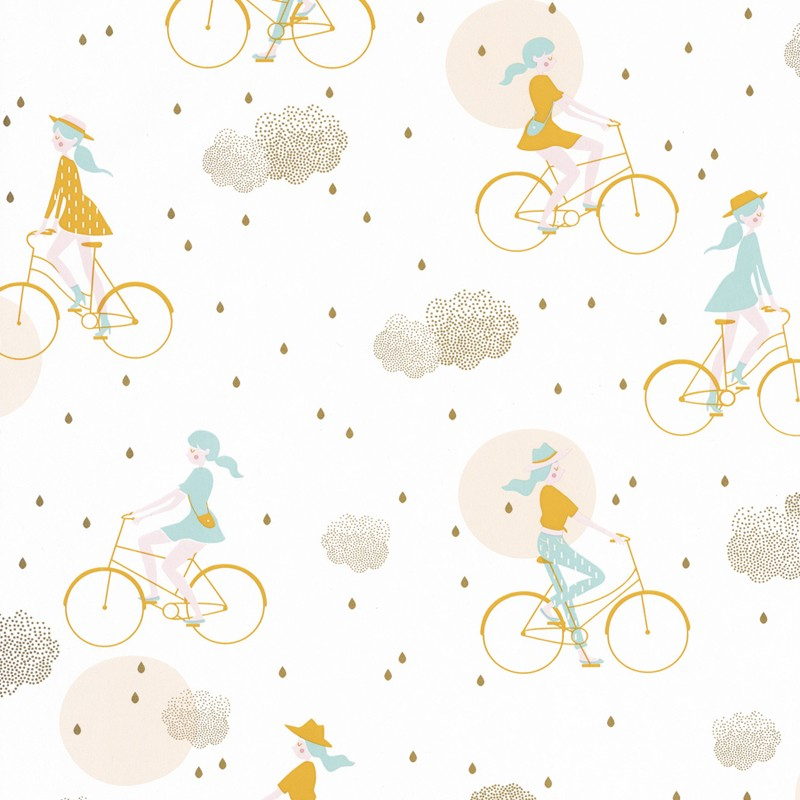Papel pintado infantil Caselio Girl Power Lucy in the Sky GPR100846226