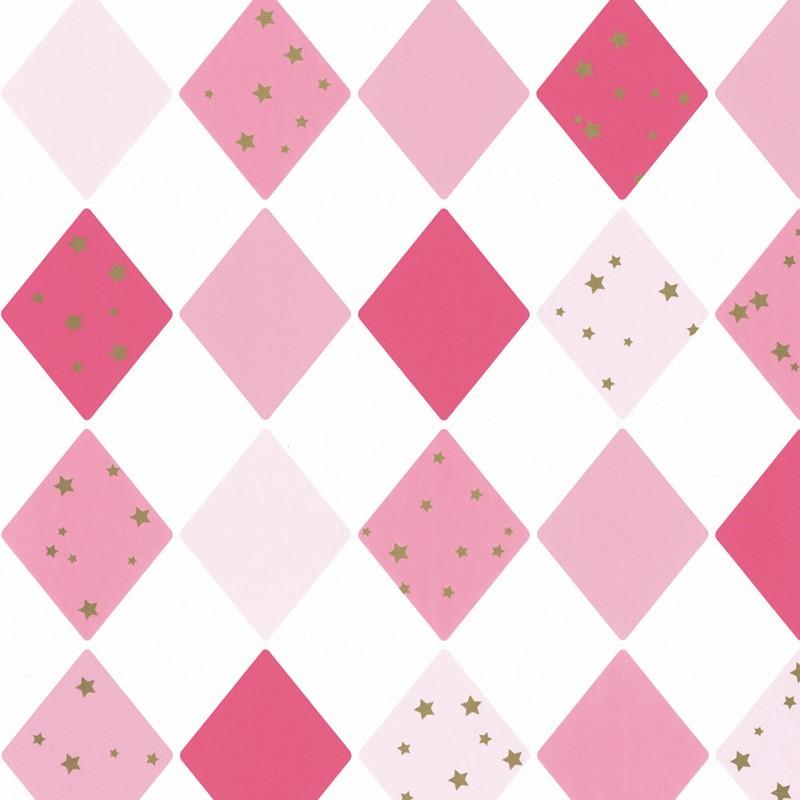 Papel pintado infantil Caselio Girl Power Shine Bright Like a Diamond GPR100814109