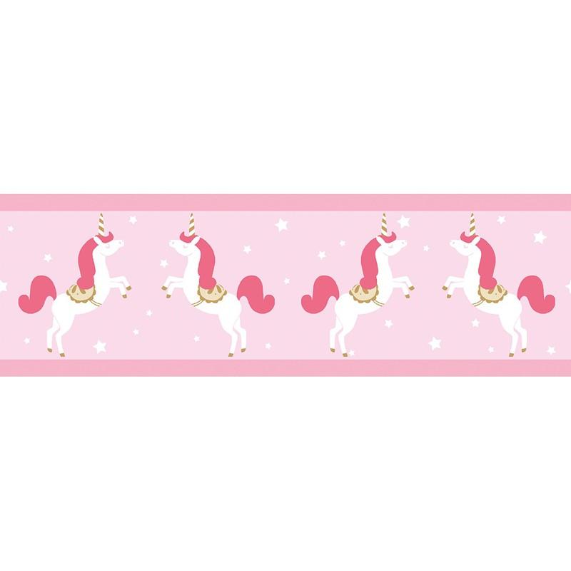 Cenefa infantil Caselio Girl Power Unicorns GPR100904233