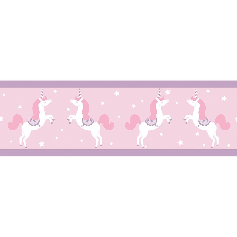 Cenefa infantil Caselio Girl Power Unicorns GPR100905010