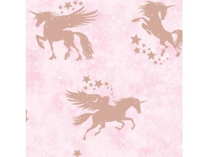 Papel pintado infantil  Holden Over the Rainbow Iridescent Unicorns 90951