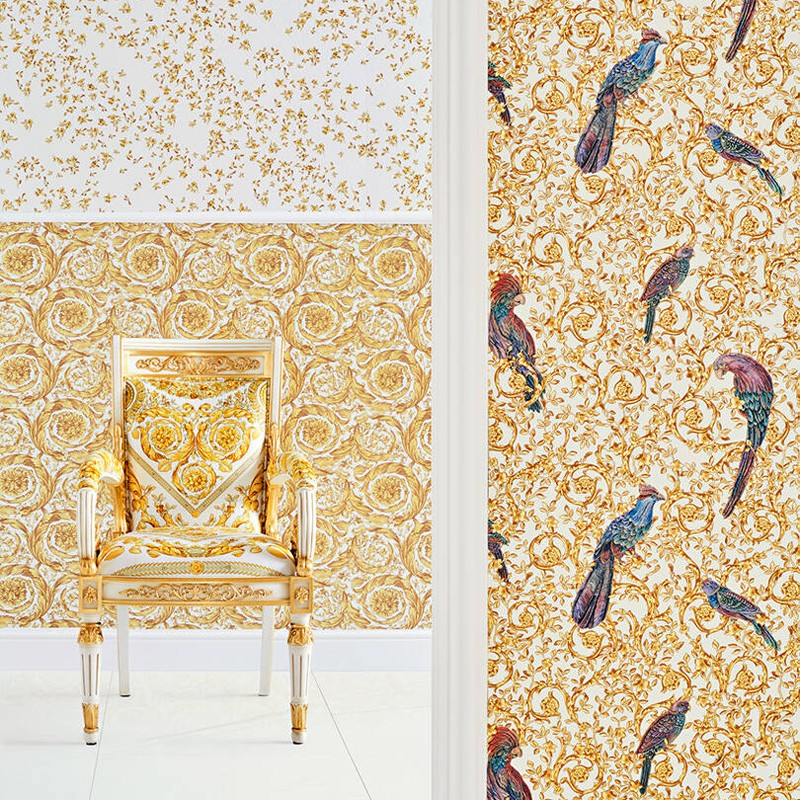 Papel pintado Versace IV Barocco Birds 37053-2