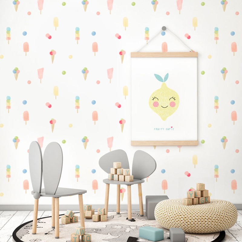 Papel pintado textil autoadhesivo AP Decoration Ice Cream