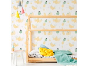 Papel pintado textil autoadhesivo AP Decoration Pineapple