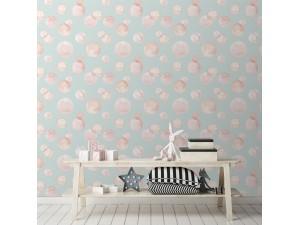 Papel pintado textil autoadhesivo AP Decoration Pink Bubbles