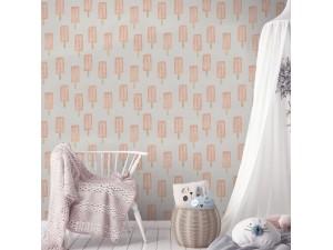 Papel pintado textil autoadhesivo AP Decoration Helados Rosas