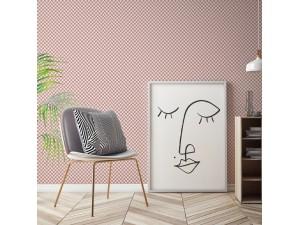 Papel pintado textil autoadhesivo AP Decoration Square Rosa